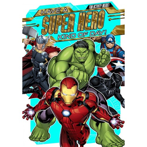 Avengers Birthday Card