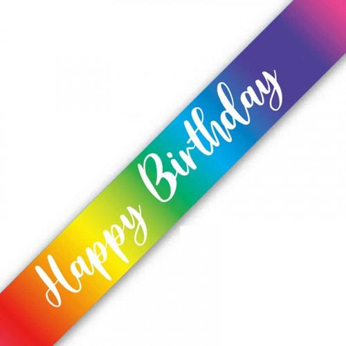 Rainbow Happy Birthday Banner (9ft)