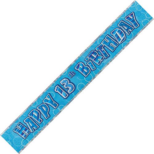 Blue 13th Birthday Foil Banner (9ft)