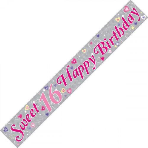 16th Birthday Foil Banner (9ft)