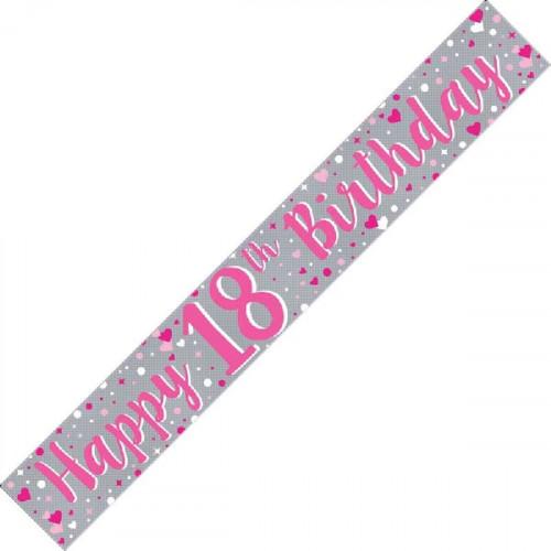 18th Birthday Foil Banner (9ft)