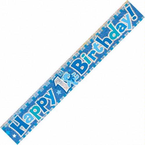 1st Birthday Foil Banner (12ft)