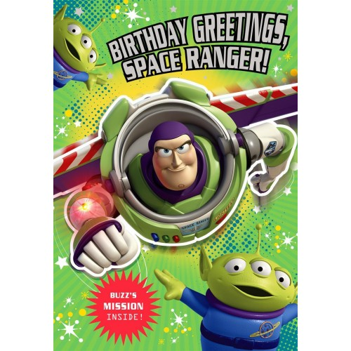 Toy Story Buzz Lightyear Birthday Card