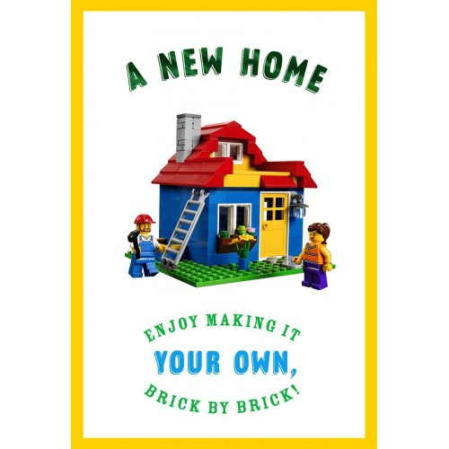 Lego New Home Card
