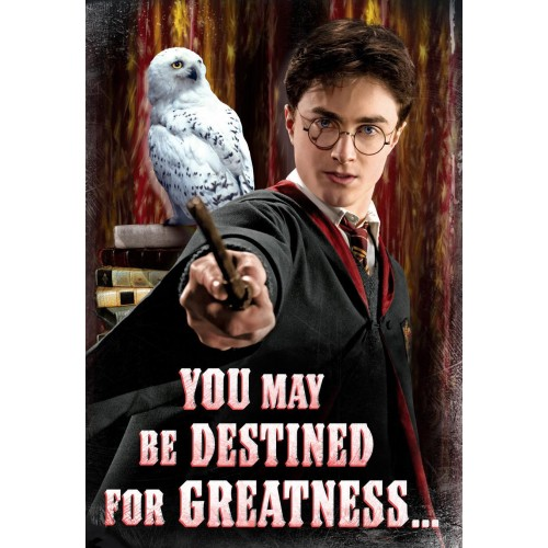 Harry Potter Birthday Card - You May Be Destined For Greatness...