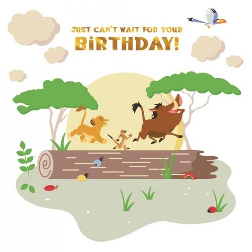 Disney The Lion King Birthday Card