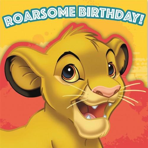Disney The Lion King Simba Birthday Card