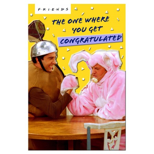 Friends TV Show Card - The One Where You Get Congratulated