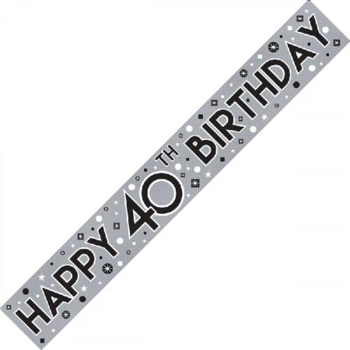 40th Birthday Foil Banner (9ft)
