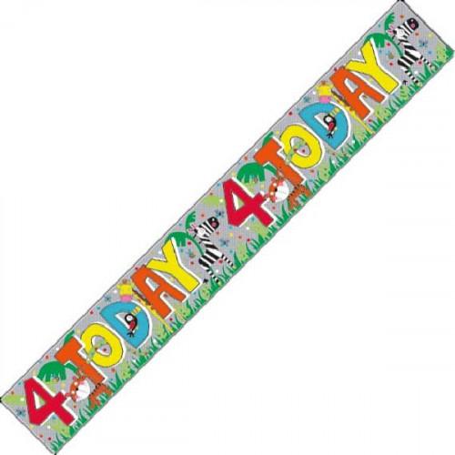 4th Birthday Foil Banner (9ft)