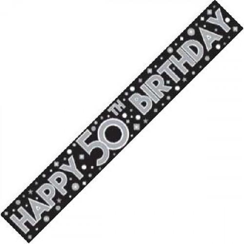 50th Birthday Foil Banner (9ft)