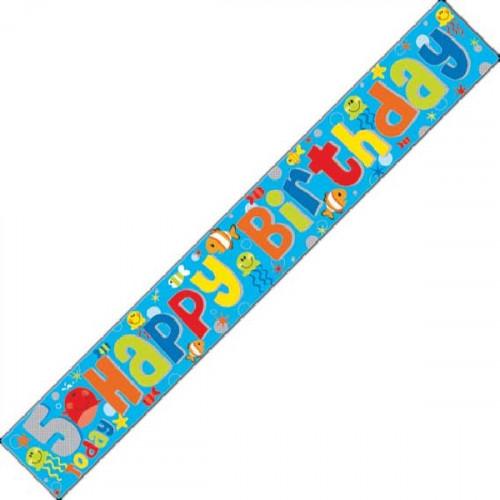 5th Birthday Foil Banner (9ft)