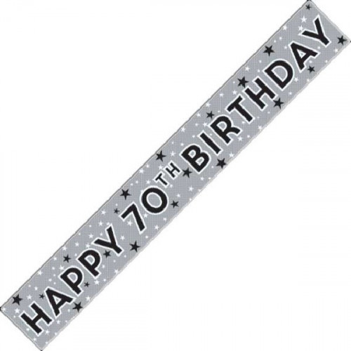 70th Birthday Foil Banner (9ft)