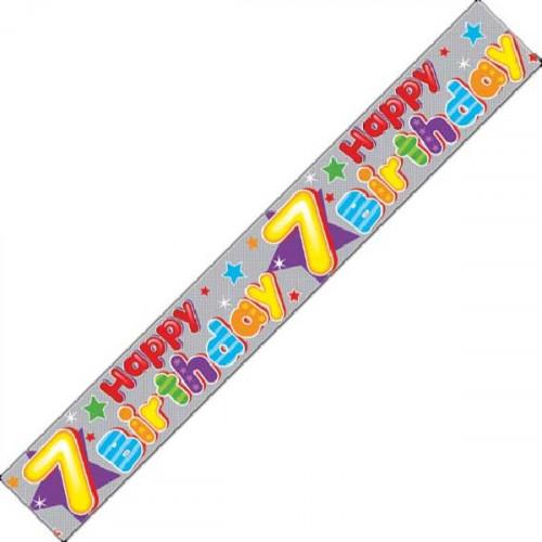 7th Birthday Foil Banner (9ft)