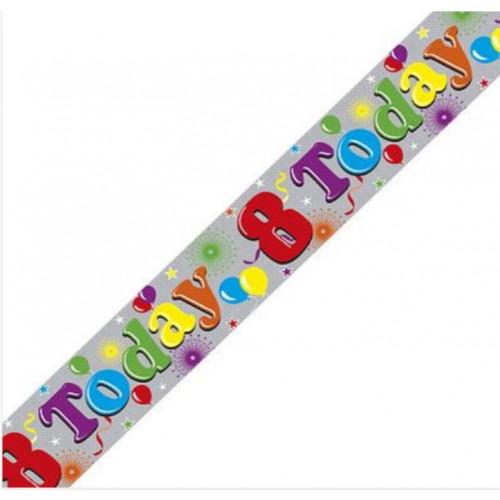 8th Birthday Foil Banner (9ft)
