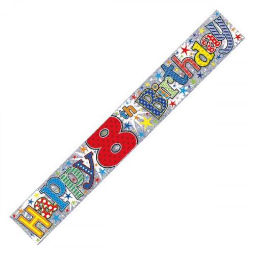 Age 8 Boy Foil Banner (9ft)