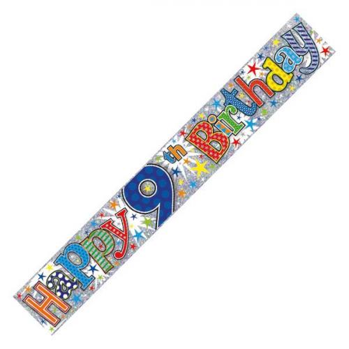 Age 9 Boy Foil Banner (9ft)