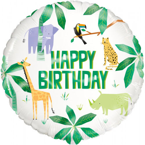 Animal Safari Birthday Foil Balloon