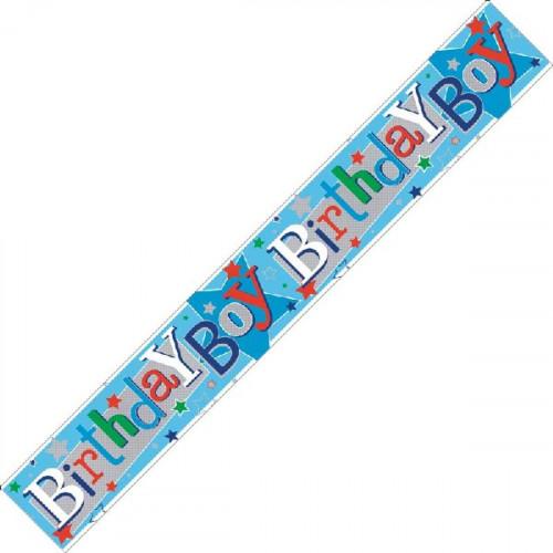 Birthday Boy Foil Banner (9ft)
