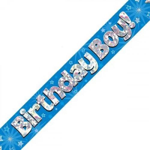 Blue Birthday Boy Foil Banner (9ft)
