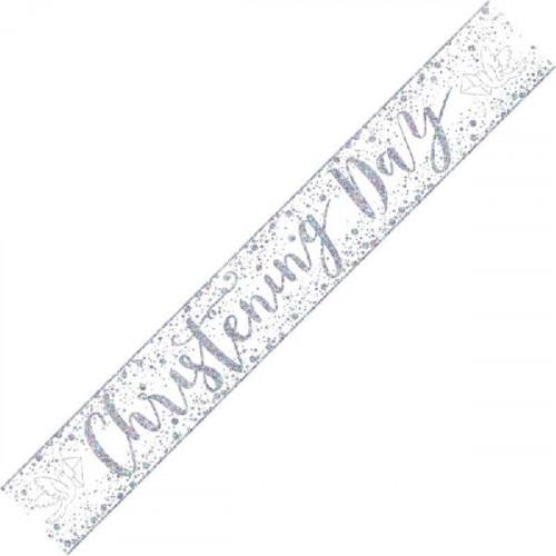 Christening Day Foil Banner (9ft)