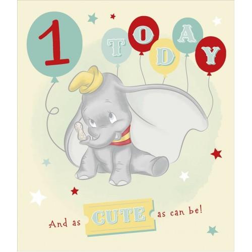 Dumbo 1st Birthday Card