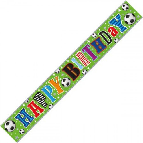 Football Happy Birthday Banner (9ft)