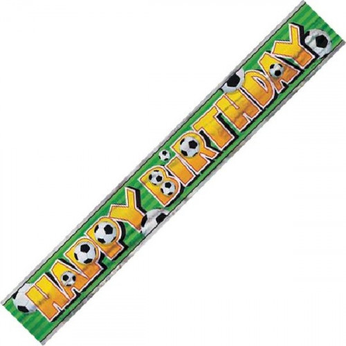 Football Birthday Banner (12ft)