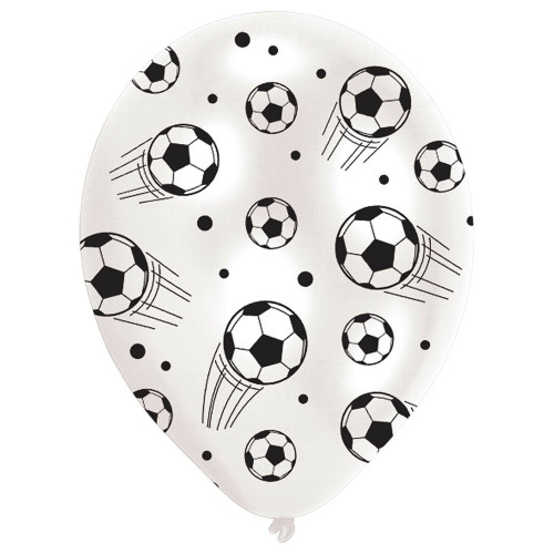 Football Latex Balloons (Pack of 6)