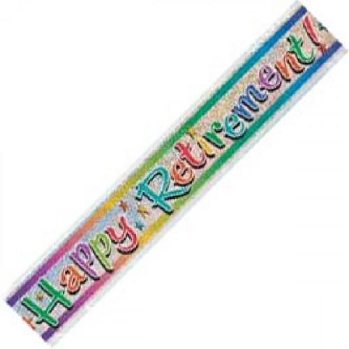 Retirement Foil Banner (12ft)