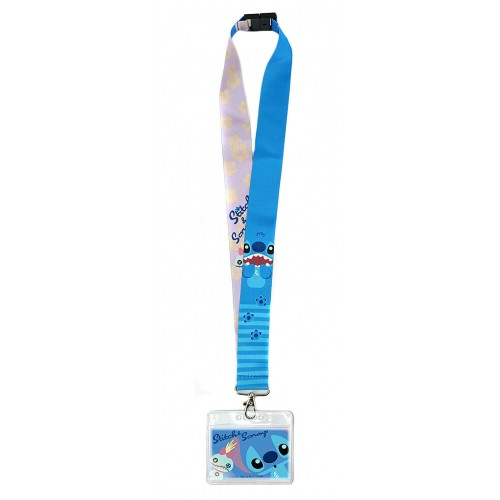 Disney Lilo And Stitch Deluxe Lanyard With Card Holder