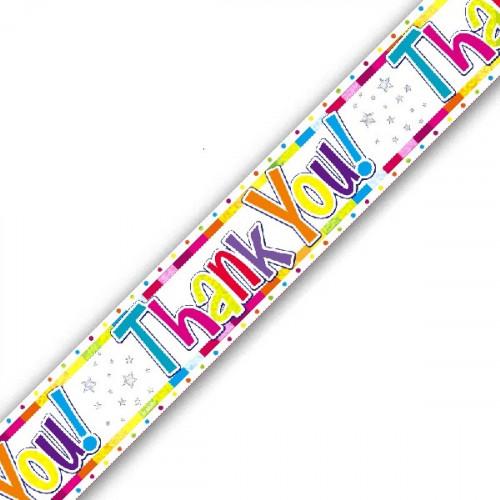 Thank You Foil Banner (9ft)