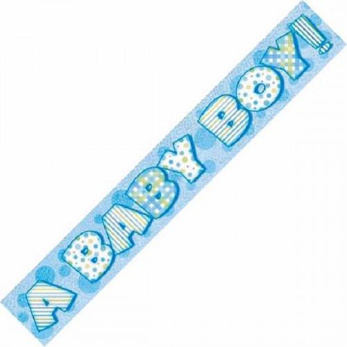 A Baby Boy Foil Banner (12ft)