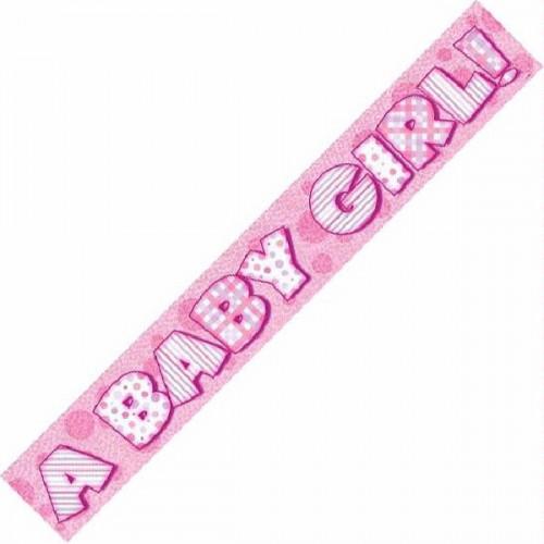 A Baby Girl Foil Banner (12ft)