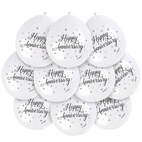 Anniversary Latex Balloons (Pack of 10)