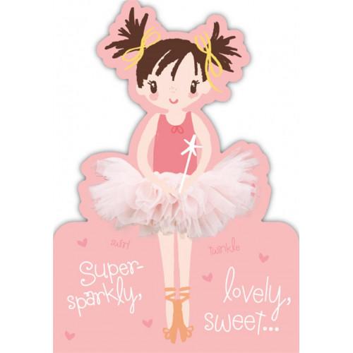 Ballerina Ballet Birthday Card
