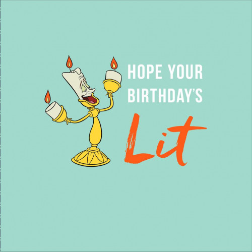Beauty And The Beast Lumiere Birthday Card