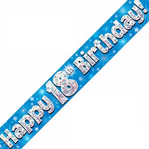 Blue 18th Birthday Foil Banner (9ft)