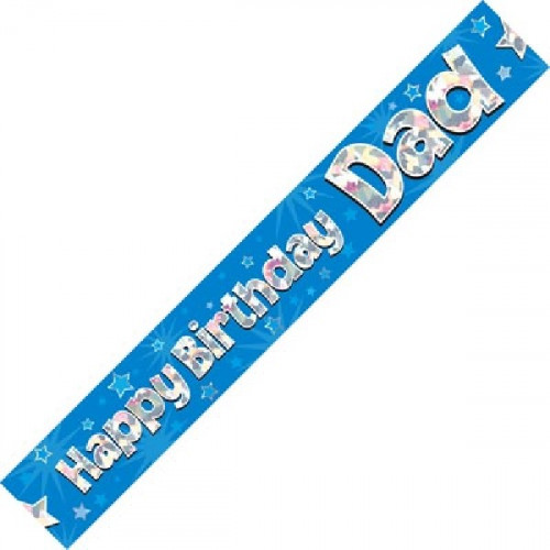 Dad Birthday Foil Banner (9ft)