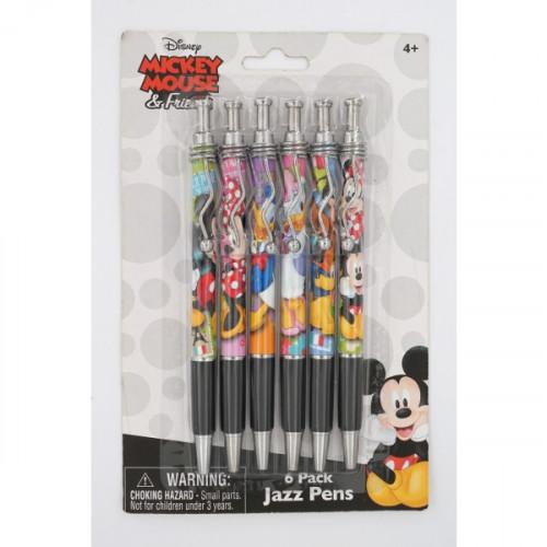 Disney Mickey Mouse 6 Pack Jazz Pen Set