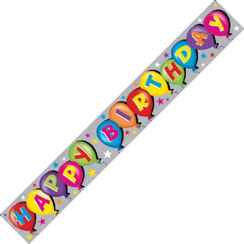 Happy Birthday Foil Banner (9ft)