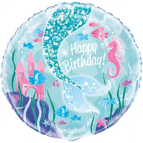 Mermaid Birthday Foil Balloon