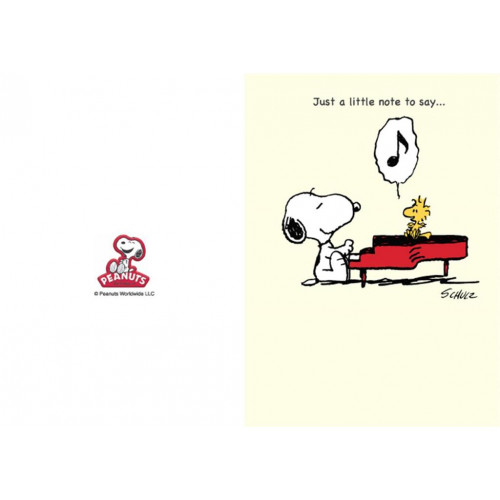 Snoopy Peanuts Thank You Card