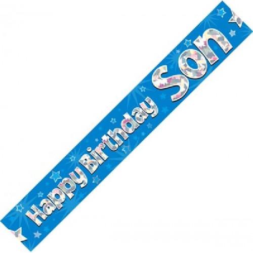 Son Birthday Foil Banner (9ft)