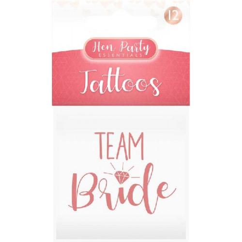 Team Bride Temporary Tattoos (Pack of 12)