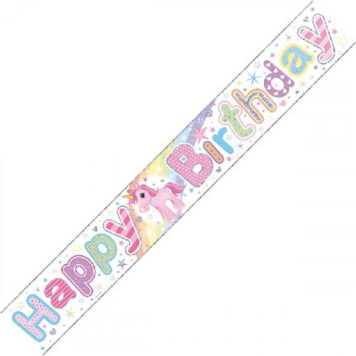 Unicorn Birthday Banner (9ft)