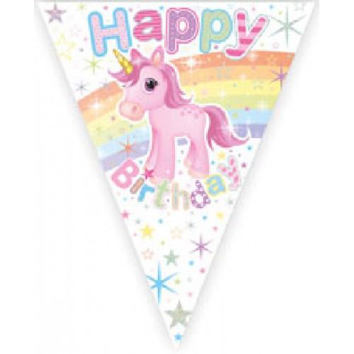 Unicorn Happy Birthday Bunting