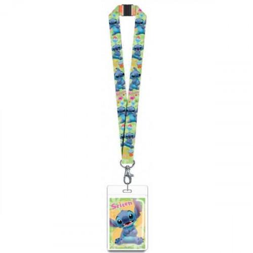Disney Lilo & Stitch Lanyard With Card Holder