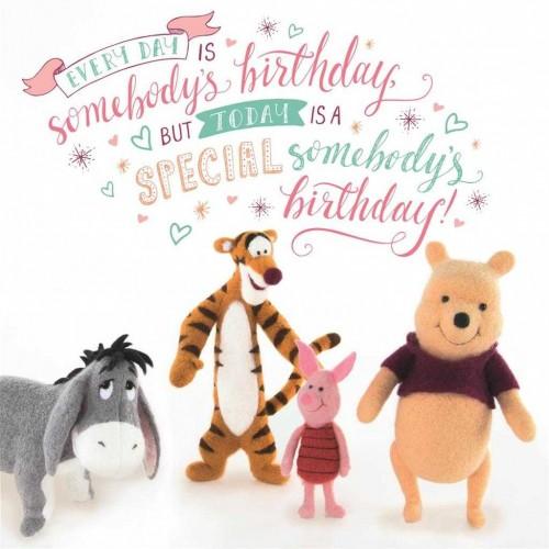 Winnie The Pooh Birthday Card