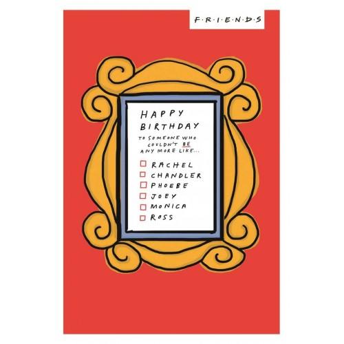 Friends TV Show Happy Birthday Card